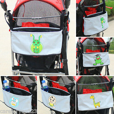 Baby Stroller Cart Organizer Hanging Storage Bag Basket Pushchair Travel Diaper
