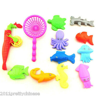 Magnetic Fishing Game Toy Rod Hook Catch Kids Children Bath Time Gift Selling
