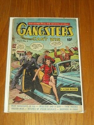 Gangsters Can't Win #3 G (2.0) Ds Publishing July 1948+