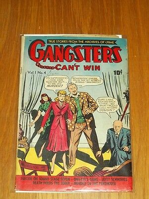 Gangsters Can't Win #4 Vg (4.0) Ds Publishing September 1948+