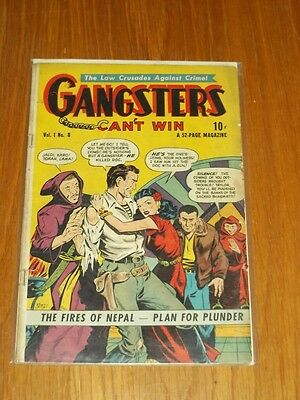 Gangsters Can't Win #8 Vg- (3.5) Ds Publishing May 1949+