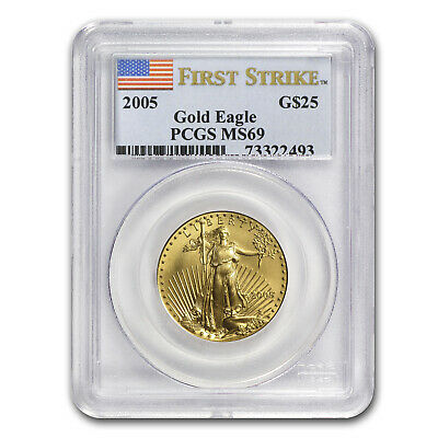 1/2 oz Gold American Eagle MS-69 PCGS (Random Year) - SKU #83497