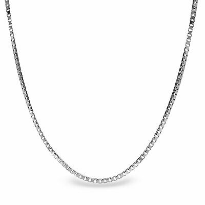 Box Chain Sterling Silver Necklace - 20 in. - SKU #65411