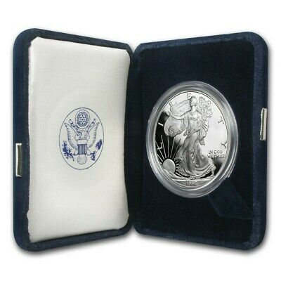 1996-P 1 oz Proof Silver American Eagle (w/Box & COA) - SKU #1067