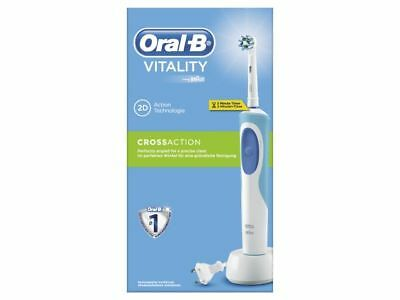 Braun Oral-B Vitality Cross Action Rechargeable Electric Toothbrush - Blue