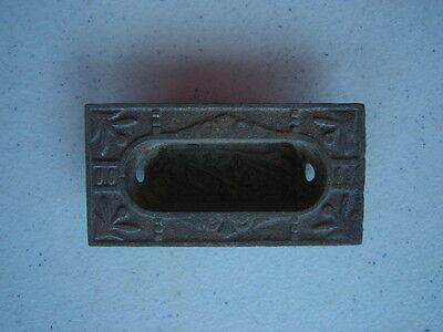 Vtg Antique Brass Or Metal  Ornate Victorian Drawer Pull