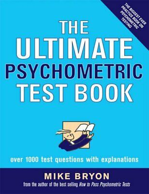 The Ultimate Psychometric Test Book, Bryon, Mike Paperback Book The Cheap Fast