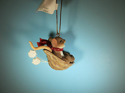 CHARMING TAILS-Have Fun And Just Let It Slide-Mouse Christmas Ornament-New
