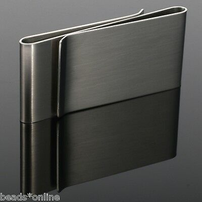 BE 1pc Stainless Steel Silver Money Clip Wallet Credit Card ID Holder