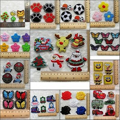 Kids Embroidered Cloth Iron / Sew On Patch Motif Applique Embroidery Patch Gifts