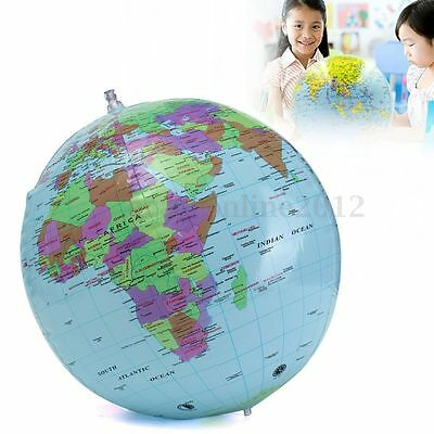 40cm Inflatable BlowUp World Globe Atlas Beach Ball Geography Education Toy Gift