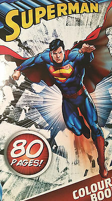 Adult Superman colouring book,80 vibrant Pages,comic,thick paper (see Photos)