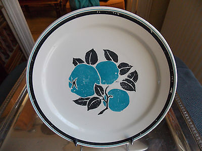 Marcel Goupy Pour Geo Rouard Assiette  Faience Decor De Fruits  Stylise 4
