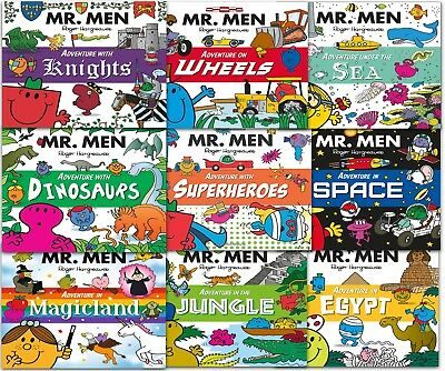 Mr. Men and Little Miss Adventures Collection 9 Books Set Childrens Gift Pack