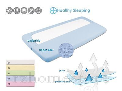 Waterproof & Breathable Jersey Fitted Sheets - Baby - Toddler - Cot - Bed Sheet