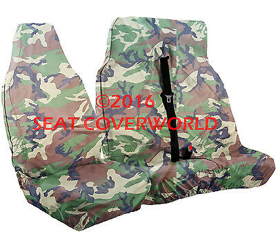 Renault Trafic - Heavy Duty Camouflage Van Seat Covers - Single + Double