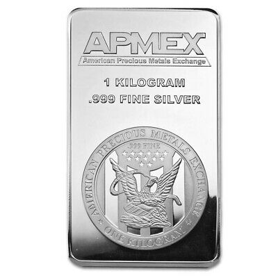 1 kilo Silver Bar - APMEX (Struck) - SKU #77924