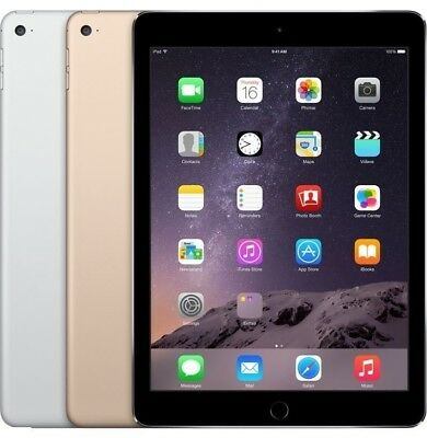 Apple iPad Air 2 WiFi &/or Unlocked 4G LTE Gray Gold  Silver Excellent Cond(A)