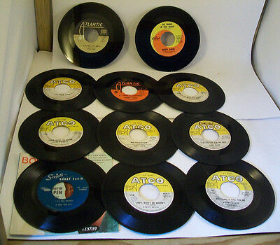 Bobby Darin - 45RPM Single Vinyl Record LOT OF 11 - Picture Sleeve