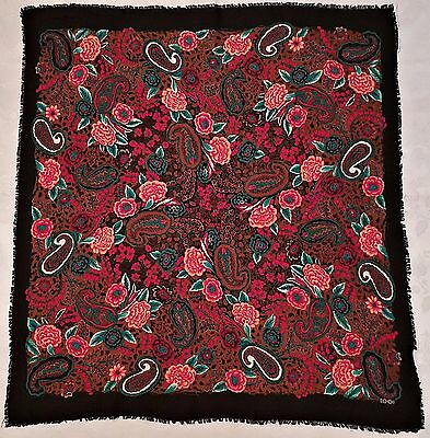 VINTAGE ROGER L LAHMY Very Large Silky Head Square Scarf PARIS ... b42852d0401