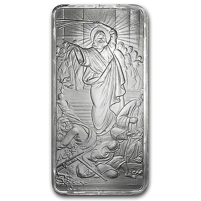 10 oz Silver Shield Bar - Jesus Clears the Temple - SKU #88726
