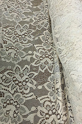 V-S02150 Exquisite Italian Designer Viscose Silk Lace Fabric By The Yard