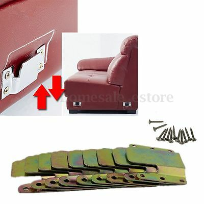 Universal Sectional Sofa Interlocking Furniture Connector 2 Sets with 12 Screws