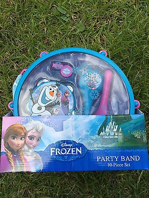 NEW DISNEY FROZEN Musical Instruments Party Band 10 Piece Set RARE! Age3+ N Up