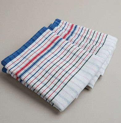 New 50 PCs Heavy Duty Commercial 100% Cotton RED BLUE VINTAGE STYLE tea towels