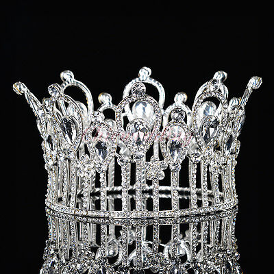 Luxury Queen Bridal Tiara Crystal Rhinestone Wedding Prom Pageant Crown Headband