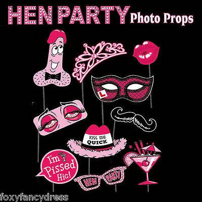 Hen Party Photo Booth Selfie Props Bachelorette Girls Night Out Accessories