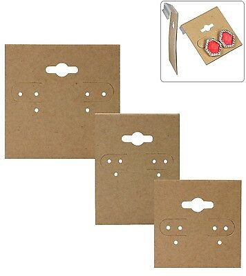 Plastic Hanging Cards Kraft Paper Covered Earring Cards 100~ Kraft Earring Cards