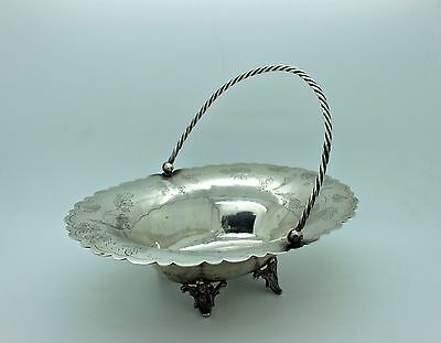 Antique Original Handmade Silver Ottoman Islamic Amazing Fruit Container