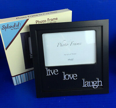 """Splendid! by Nygala """"Live, Love, Laugh"""" 4x6 Photo Frame for Table Top w/ Easel"""