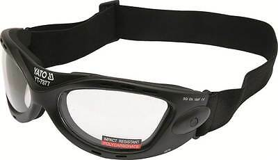 YATO Professional Safety Goggles Polycarbonate + Impact & UV Safe Glasses / Spec