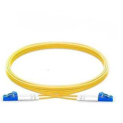 1M LC to LC UPC Duplex 2.0mm PVC(OFNR) 9/125 Single Mode Fiber Patch Cable