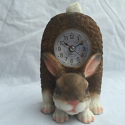 BACK 2 SCHOOL SALE Critter Clock Bunny Rabbit Kitchen Tabletop Wagging Tail Hare