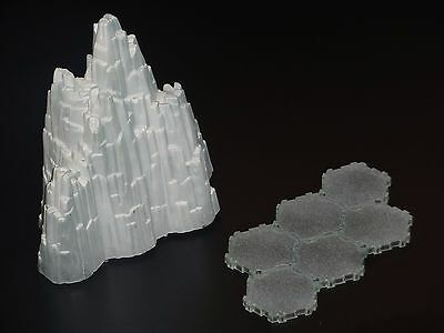 Heroscape Terrain - Tundra 6-Hex Glacier W/ Base - Expand Your Battlefield