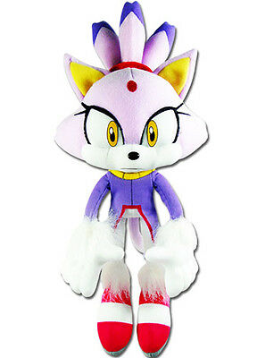 """Next Day Ship Official GE Sonic the Hedgehog Rush 14"""" Blaze the Cat Plush Doll"""