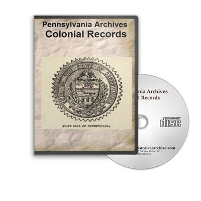 Pennsylvania Archives Colonial Records - All 16 Volumes + Index on CD B417