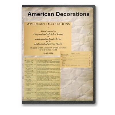 American Decorations Medal of Honor, Distinguished Service Recipients -  CD D457