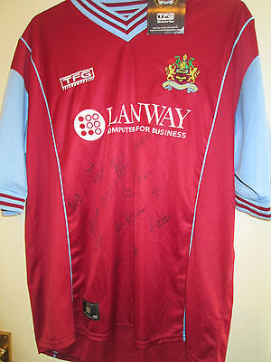 Burnley Home Football Shirt Signed by 2003-2004 Squad with COA BNWT /39687