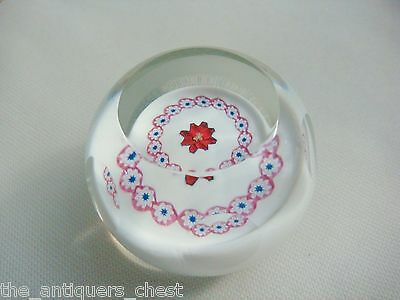 Caithness Scotland Glass Paperweight FACETED MILLEFIORI PAPERWEIGHT. F7568.