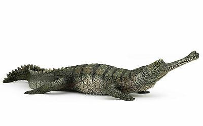 FREE SHIPPING   Papo 50154 Gharial Crocodile Model Wild Reptile - New in Package