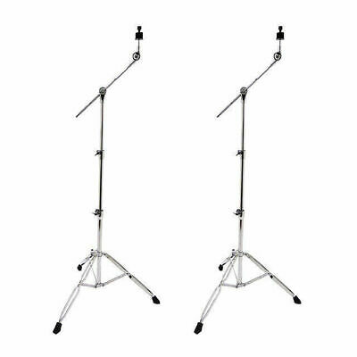 2 X Cymbal Boom Stands 5 Year Warranty Double Braced Crash Splash China Ride