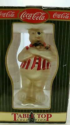 "Coca Cola Mercury Glass Polar Bear Table Top Figurine With Box 10"" high"