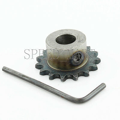 12mm Bore 15 Teeth 15T Metal Pilot Motor Gear Roller Chain Drive Sprocket