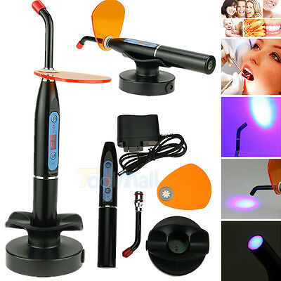 NEW Dental 10W Wireless Cordless LED Curing Light Lamp 2000mw US SHIP