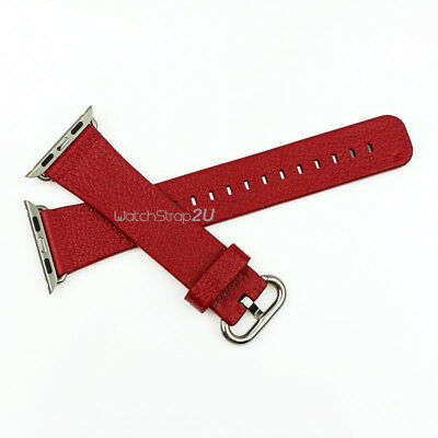 Genuine Leather Watch Band Strap Replacement for iWatch 38 42 mm