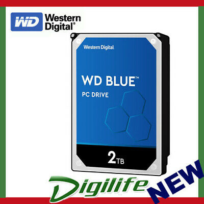 "WD WD20EZRZ 2TB Blue 3.5"" 5400RPM SATA3 desktop Internal Hard Drive Sealed"